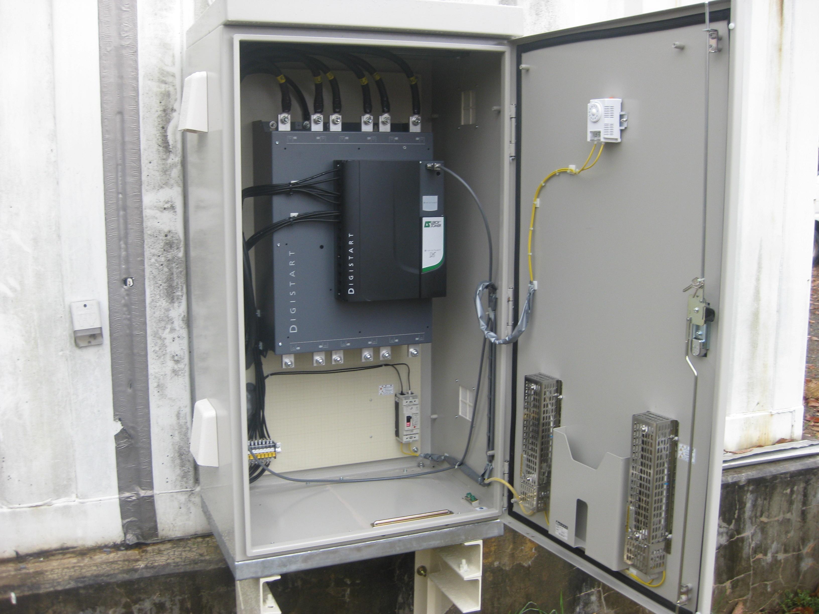 更新工事:送水ポンプ駆動装置更新