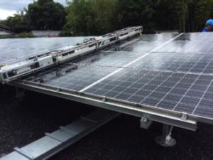 太陽光発電メンテナンス 滋賀 モジュール洗浄