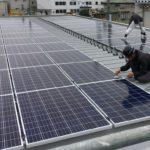 施工事例 : 太陽光発電システムの不燃性配管工事