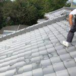 施工事例 : 土葺き瓦屋根のモジュール設置