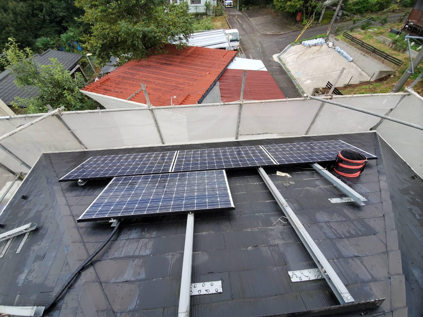 滋賀 屋根葺き替え 太陽光取り外し 再設置