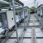 施工事例 : 産業用太陽光発電システム 水上設置