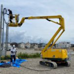 施工事例:野立て高圧太陽光発電所 途中