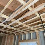 施工事例:新築案件の太陽光用電線の仕込み